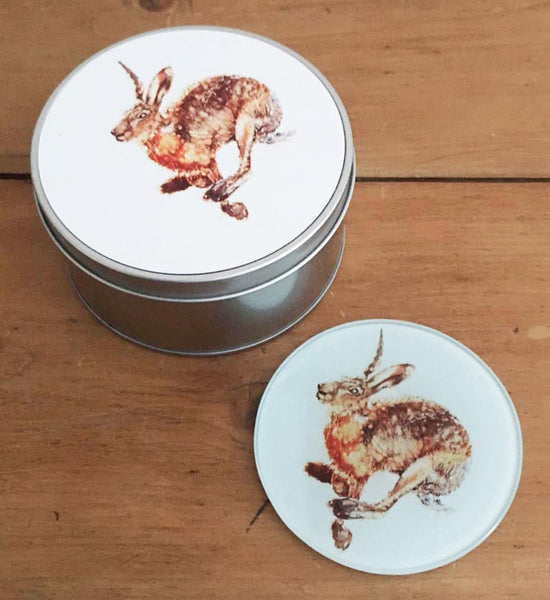 Coaster Gift Set - Running Hare