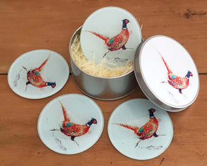 Coaster Gift Set - Running Pheasant