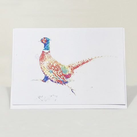 Greetings Card - Running Pheasant