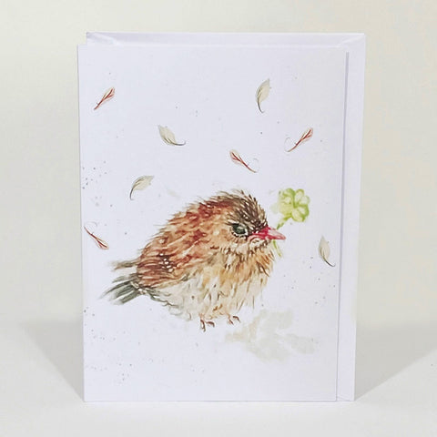 Greetings Card - Song Thrush