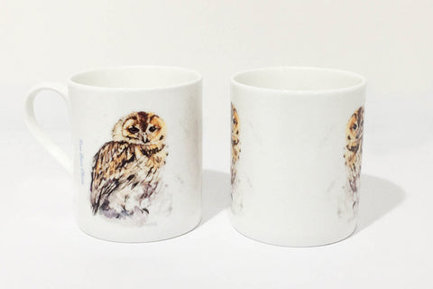 Fine Bone China Mug - Tawny Owl