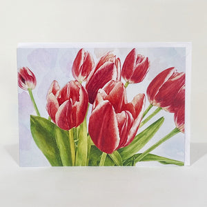 Greetings Card - Tulips