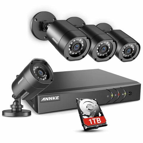 ANNKE 8CH H.264+Security Camera System w/ 1TB Hard Drive (Factory Refurbished)