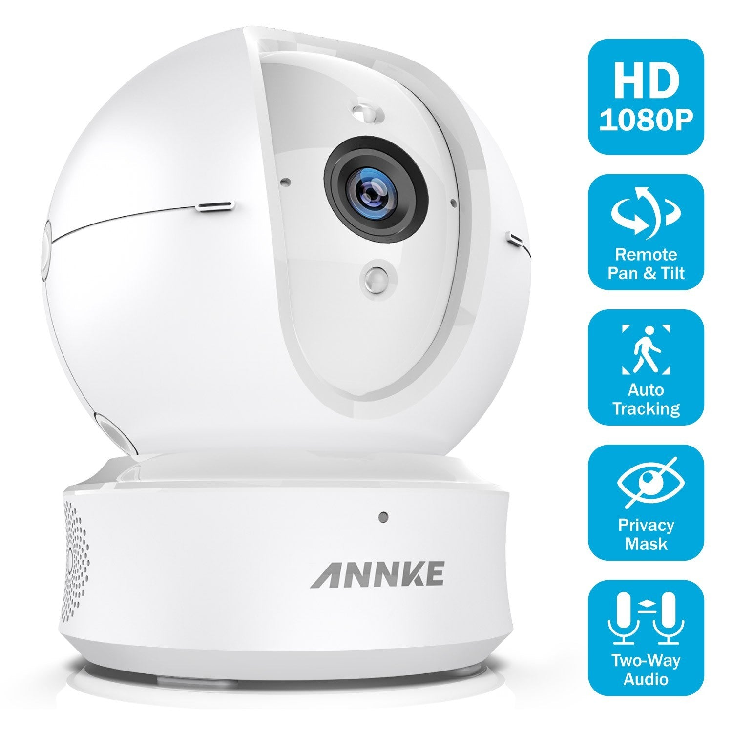 ANNKE Wifi IP Camera, Nova Orion 1080P HD Pan/Tilt Home Security Camera (Factory Refurbished)