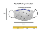 Adults - Fridaze 100% Linen Face Mask incl. one PM 2.5 Filter - Passion Flower