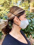 Adults - Fridaze 100% Linen All Day Work Masks incl. one PM 2.5 Filter - Pebble
