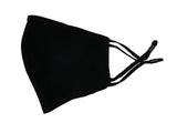 Adults - Fridaze 100% Linen Face Mask (Optional PM 2.5 Filter) - Black