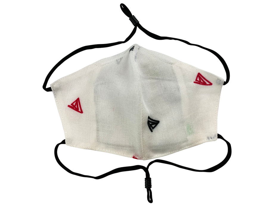 Children - Fridaze 100% Linen All Day School Masks incl. one PM 2.5 Filter - Multi Color Triangles WHOLESALE