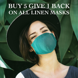 Adults - Fridaze 100% Linen Face Mask incl. one PM 2.5 Filter- Evergreen