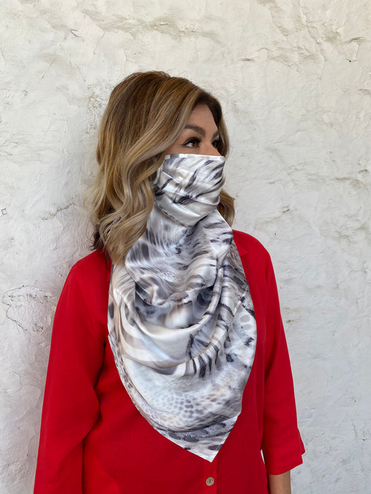 Silks by Fridaze Premium Face Masks Scarf - Brown Animal WHOLESALE