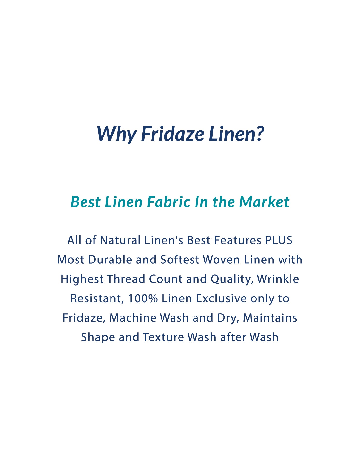 Adults - Fridaze 100% Linen Face Mask (No Filter Included)  - Sapphire