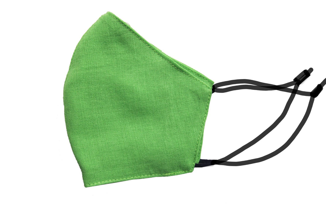 Adults - Fridaze 100% Linen Face Mask incl. one PM 2.5 Filter  - Kiwi