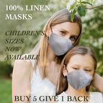 Children - Fridaze 100% Linen Face Mask incl. one PM 2.5 Filter - Pebble