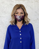 Silks by Fridaze Premium Face Masks Inc. One PM 2.5 Filter - Purple Dots
