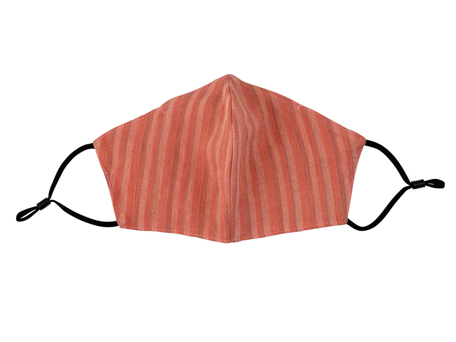 Adults - Fridaze 100% Linen Face Mask incl. one PM 2.5 Filter  - Spice Stripes