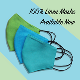 Children - Fridaze 100% Linen Face Mask incl. one PM 2.5 Filter  - Kiwi