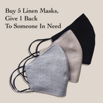 Adults - Fridaze 100% Linen Face Mask (Optional PM 2.5 Filter) - Sand