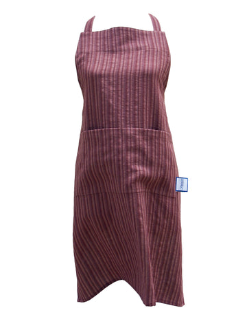 Premium 100% Wrinkle Resistant Linen Aprons from Fridaze - Chocolate Stripes
