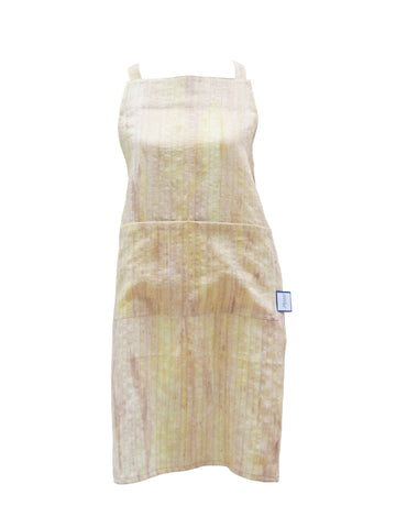 Premium 100% Wrinkle Resistant Linen Aprons from Fridaze - Gold Watercolor Stripes
