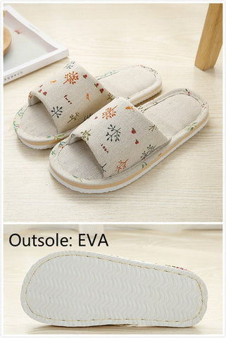 Women Casual Floral Indoor Home Slippers Flower Soft Slippers