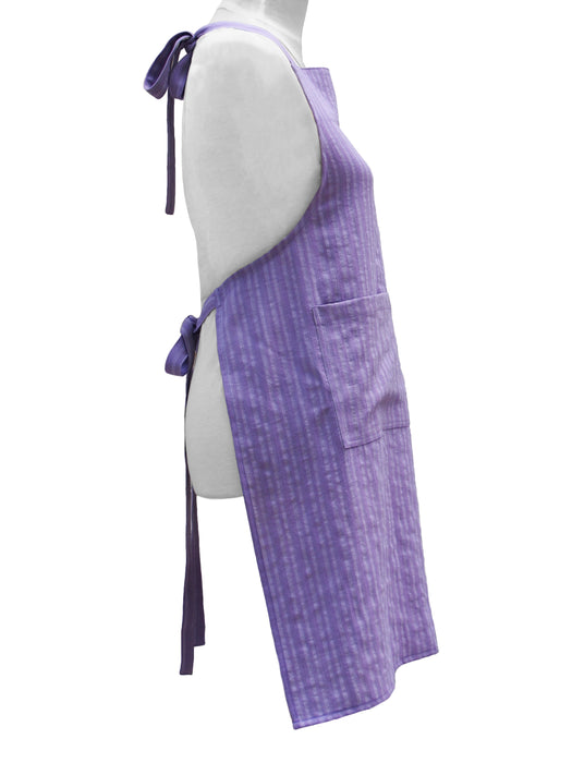 Premium 100% Wrinkle Resistant Linen Aprons from Fridaze - Foggy Lavender Stripes