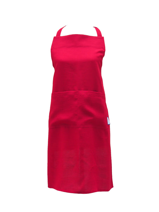 Premium 100% Wrinkle Resistant Linen Aprons from Fridaze - Chili