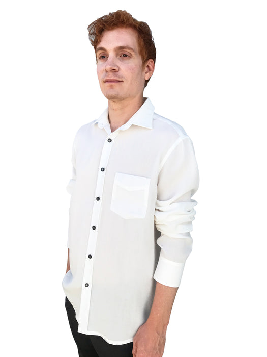Fridaze Wrinkle-Resistant 100% Linen Men's Shirt, Regular Fit, Long Sleeve - AA9202 (4 pcs) WHOLESALE