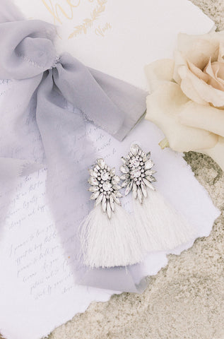 RE-STOCKED: Embellished Tassel Earring