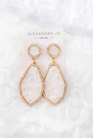 RE-STOCKED: Pearl Drop Earrings