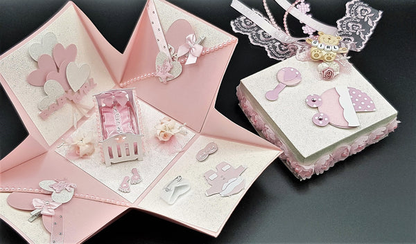 Baby girl explotion box