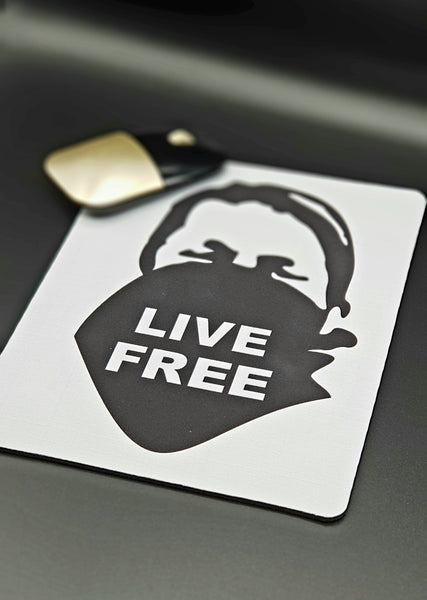 LIVE FREE - Mouse Pad