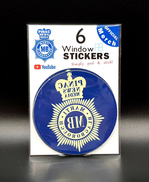 Large Window stickers - 6 pack