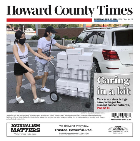 Kits to Heart in Howard County Times Baltimore Sun Media