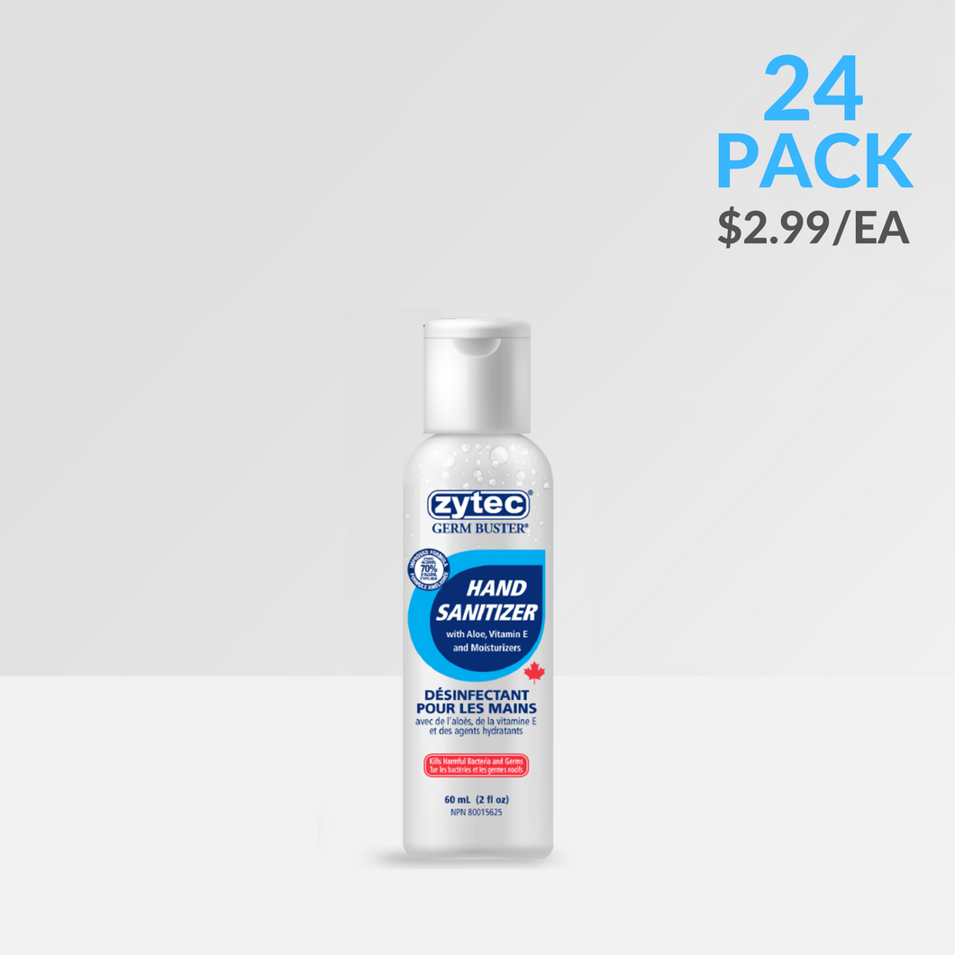 60ml – zytec® Clear Gel Hand Sanitizer