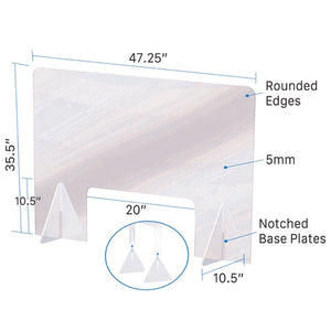 Acrylic Sneeze Guard Protective Shield (15 Guards)