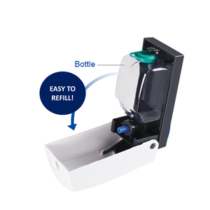 Manual Wall Mount Dispenser – Includes 3 x 980ml Refills