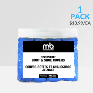Disposable Boot & Shoe Covers 20prs/pk