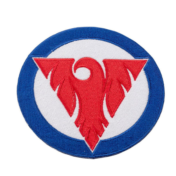 Fenix Circular Patch - Red and Blue on White