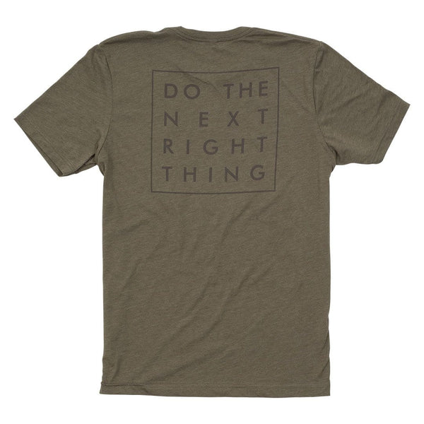 """Do The Next Right Thing"" Tonal Tee - Olive"