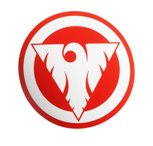 Fenix Circular Sticker - White on Red