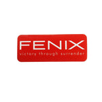 Fenix Rectangular Sticker - White on Red