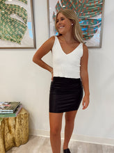 Load image into Gallery viewer, Faux Leather Mini Skort