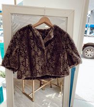 Load image into Gallery viewer, Faux Fur Python Bolero