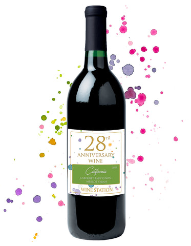 28th Anniversary Wine