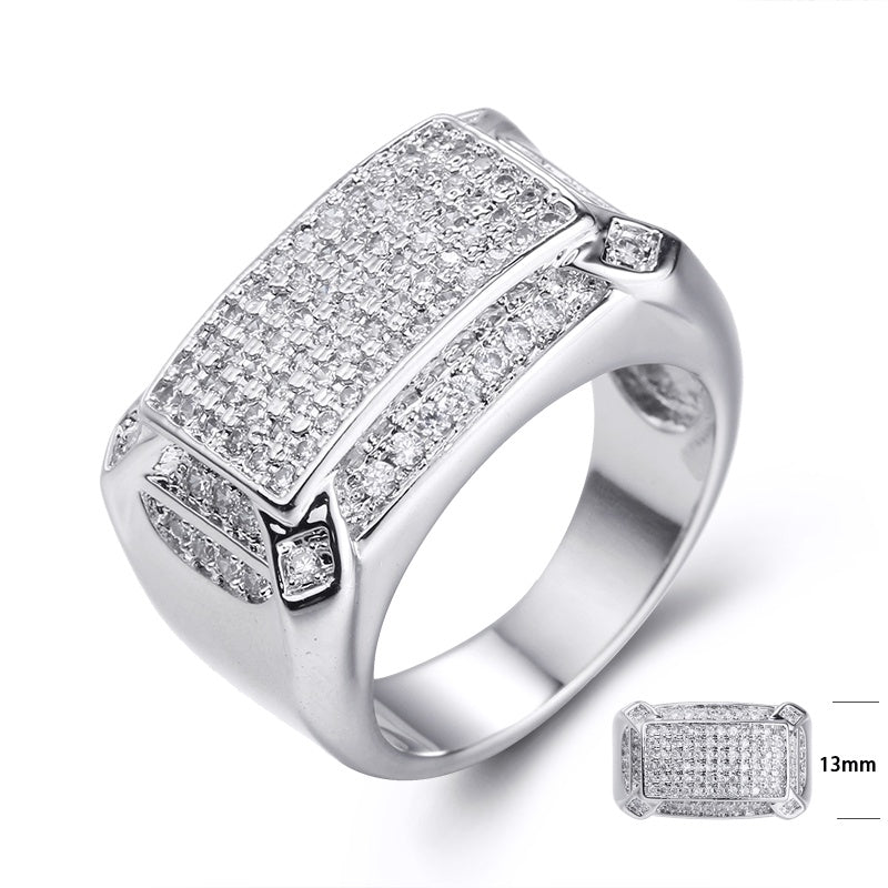Rectangle Micropave Ring