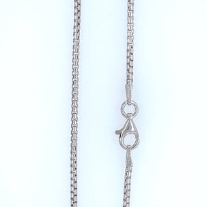 Sterling Silver Oxidized Round Box 035 Chain