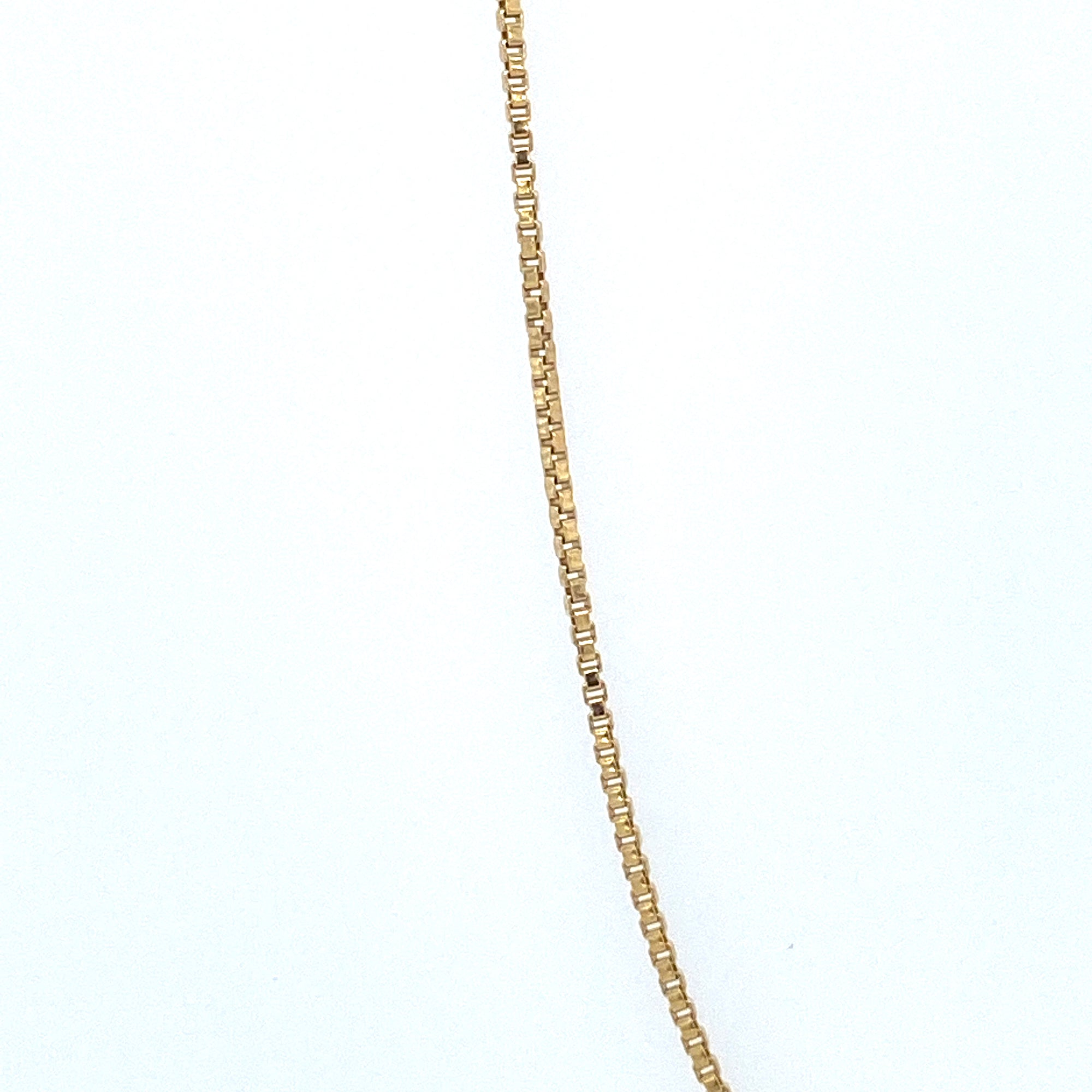 Sterling Silver Gold Plated Box Chain 015 Gauge