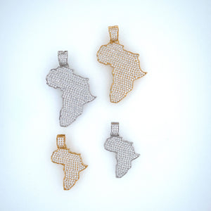 Africa W/Africa on Back Pendant