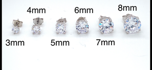 Sterling Silver Round CZ Stud