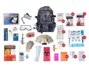 2 Person Elite Survival Kit (72+ Hours) - CAMO Backpack
